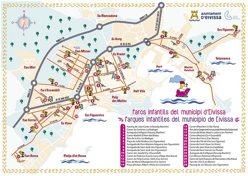 Mapa Parques infantiles